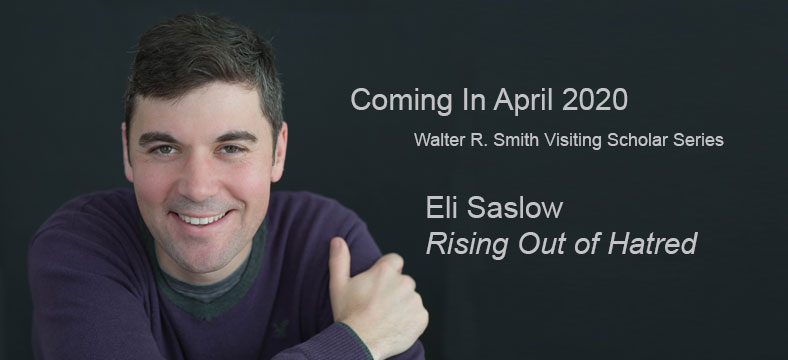 Promotion for Eli Saslow talk as part of the Watler R. Smith Visiting Scholar Series