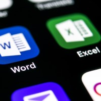 app buttons for word and excel