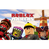words roblox makers with four lego characters